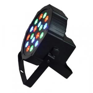Proiector lumini Par Led 18x1W Slim, Evenimente, Nunti, Dmx in-out, Microfon, Cooler, Club, Disco, Petrecere [3]