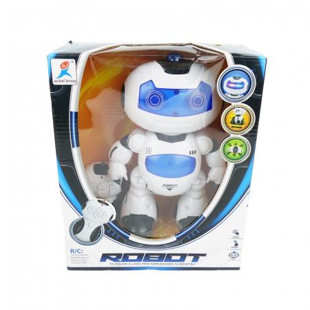 Robot inteligent, cu miscare, muzica, sunete, dans, 22 cm, alb/albastru [1]
