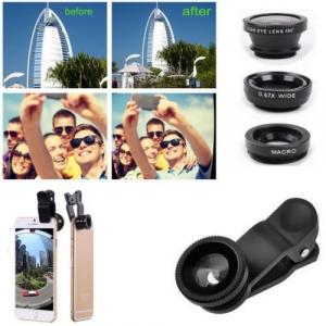 Set 5 in 1 lentile profesionale (wide) + selfie stick + mini trepied + suport smarthphone universal [3]