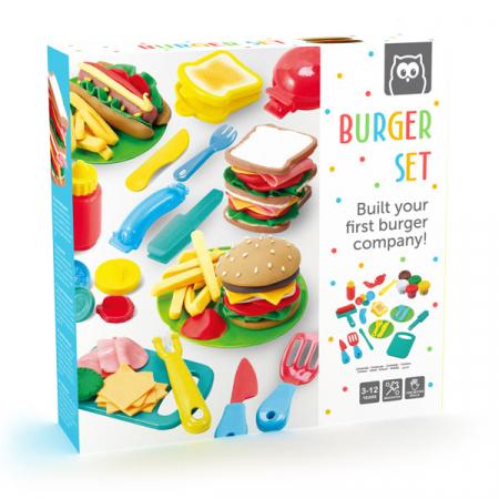 Set de creatie cu plastilina - Decoreaza burgerul, Eurekakids