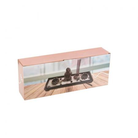 "Set decorativ suport pentru lumanari si betisoare parfumate ""Buddha"", Negru-Bronz [2]"