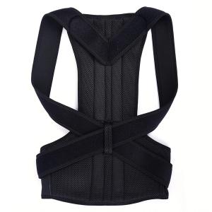 Suport corector pentru spate cu bretele ajustabile, unisex, negru [0]