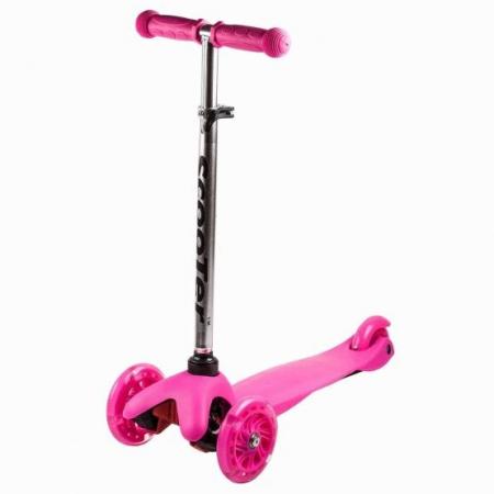 Trotineta copii Smart Roz cu roti luminoase, Scooter
