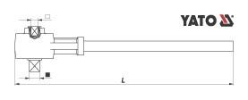 Antrenor cu Amplificator YATO, de Forta, 3/4 - 1 inch, 500Nm, max 2700Nm 1