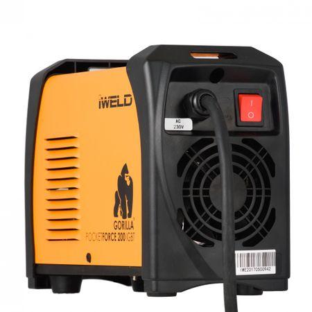 Aparat de sudura tip invertor IWELD, Gorilla PocketForce 200, 200A, electrozi 1.6-5mm 1