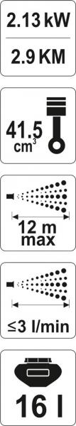 Atomizor YATO, Benzina, 2.13kW, 16L [7]