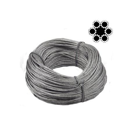 Cablu otel flexibil VENUS DSH, 6X12, 10mm, colac 100m [0]