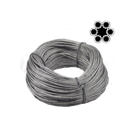 Cablu otel flexibil VENUS DSH, 6X12, 6mm, colac 100m [0]