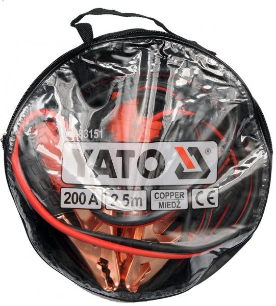 Cabluri Incarcare Baterie Auto YATO, 200A, 2.5m [1]
