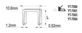 Capse Tapiterie YATO, 6 mm [1]
