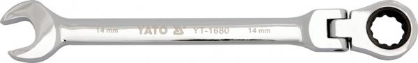 Cheie Combinata YATO, cu Clichet, Cap Flexibil, 72T, CR-V, 8 mm [0]