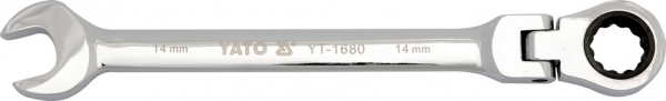 Cheie Combinata YATO, cu Clichet, Cap Flexibil, 72T, CR-V, 9 mm 0