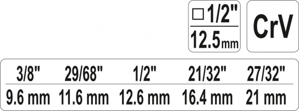 Cheie in Trepte YATO, Pentru Radiator, 1/2 inch 2