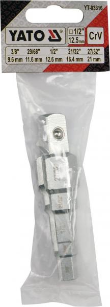Cheie in Trepte YATO, Pentru Radiator, 1/2 inch 3