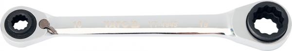 Cheie Inelara Dubla YATO, cu Clichet, CR-V, 72T, 10 X 13 X 17 X 19mm [0]