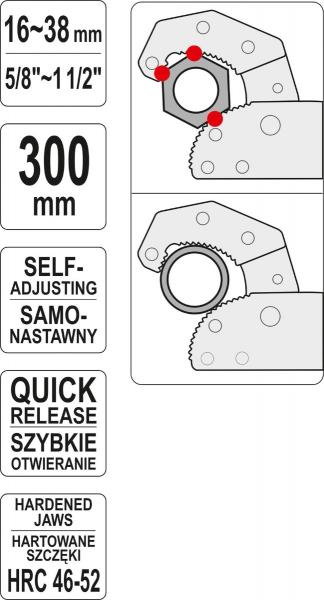 Cheie Reglabila YATO, 16 - 38mm, 300mm [3]