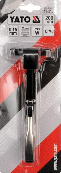 Cleste Autoblocant YATO, Pentru Tinichigerie, Tip W, 0 - 15mm, 200mm [2]
