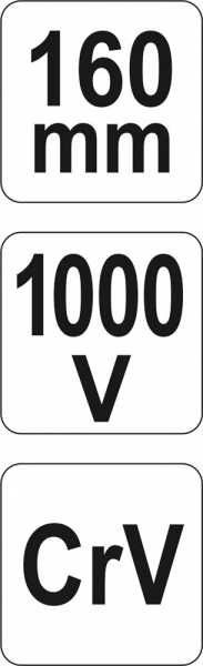 Cleste Combinat YATO, Varf Ascutit, VDE, 160mm, 1000V 4