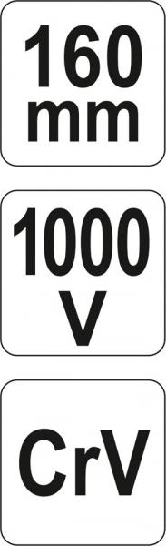 Cleste Combinat YATO, VDE, 160mm, 1000V 4