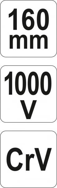 Cleste Decablator YATO, VDE, 1000V, 160mm 5