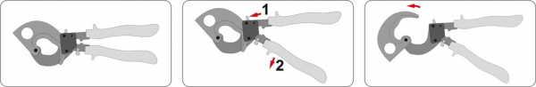 Cleste Pentru Cabluri YATO, Cu-AL, 300mm/240mm 3