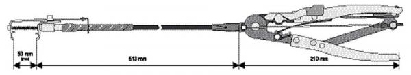 Cleste Pentru Coliere YATO, cu Cablu, 513mm 2
