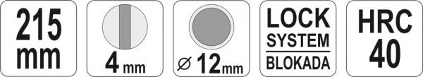 Cleste Pentru Sigurante Furtun YATO, Varf Indoit, 215mm 3