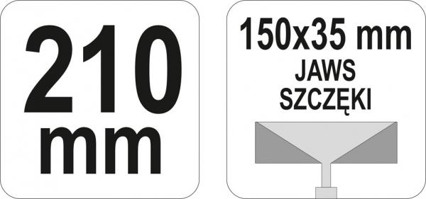 Cleste Profile YATO, 150 X 35mm, 210mm 2