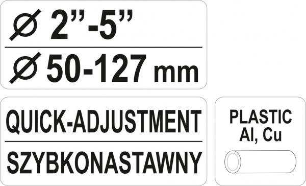 Cleste Taietor Tevi YATO, 2-5, 50 - 127mm 3