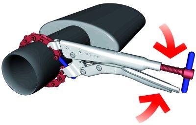 Cleste Taietor UNIOR, Pentru Tevile de Esapament, 25 - 85mm, 330mm [1]