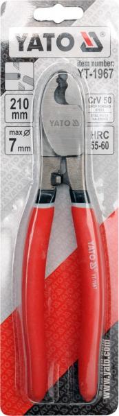 Cleste Taietor YATO, Pentru Cabluri Electrice, CR-V, 210mm [1]