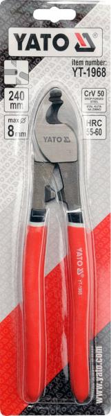 Cleste Taietor YATO, Pentru Cabluri Electrice, CR-V, 240mm 1