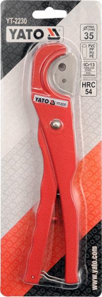 Cleste Taietor YATO, Pentru Tevi, PVC/PP, 35mm 1