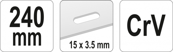 Cleste Taietor YATO, Perforator Tabla, 240mm, 15 X 3.5mm [3]