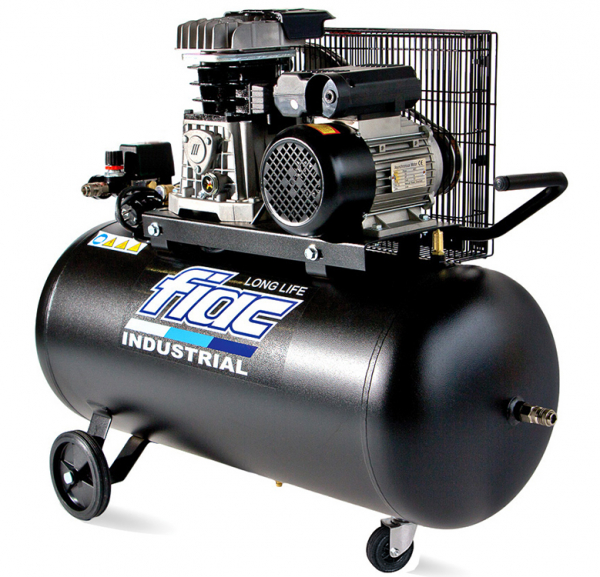 Compresor cu piston FIAC INDUSTRIAL Italy, AB100-2MC LONG LIFE, 220V, rezervor 100l, debit 250l/min, 10 bar 0