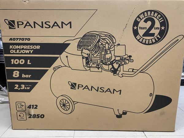 Compresor de Aer PANSAM, 100l, 2.3kW, 8bar, 2 Cilindrii, 412 l/min 4