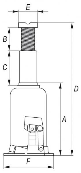 Cric Hidraulic YATO, 15T, 231-498mm 1