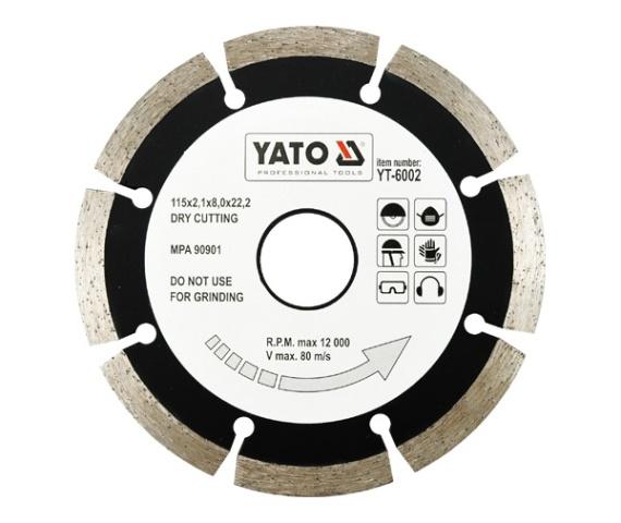 Disc diamantat YATO segmentat 0