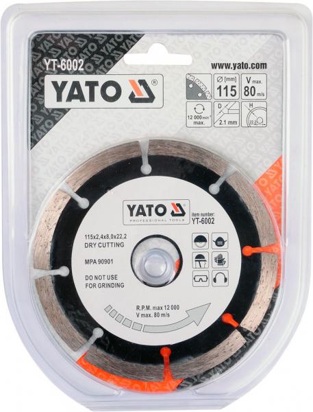 Disc diamantat YATO segmentat 1