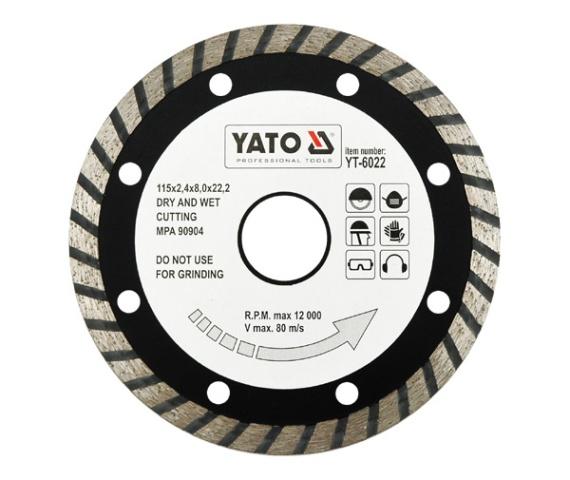 Disc diamantat YATO turbo 0