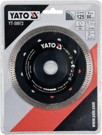Disc diamantat YATO, turbo, ultra-subtire, 125mm 1