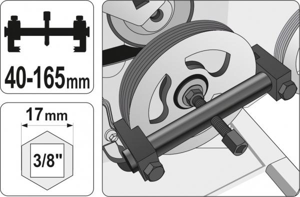 Dispozitiv Extras Fulie YATO, 40 - 165mm 2