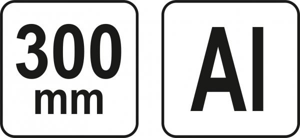 Echer Multifunctional YATO, Aluminiu, 300mm 3
