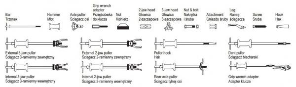 Extractor Culisant YATO, Rulmenti si Bucse, 13buc [3]