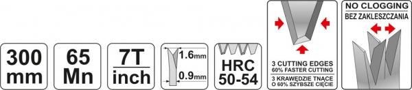 Fierastrau Coada de Soarece YATO, 300mm [2]