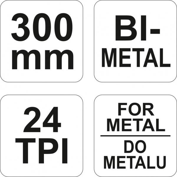 Fierastrau cu Cadru Metalic YATO, 24TPI, 300mm 2