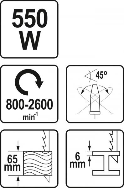 Fierastrau pendular YATO, 550W, 800-2600rpm 5