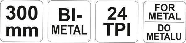 Fierastrau Pentru Metal YATO, 24TPI, 300mm 2