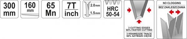 Fierastrau Pentru Rigips YATO, 150mm 3