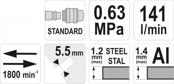 Foarfeca Pneumatica YATO, Tip Pistol, 1800 rpm [3]